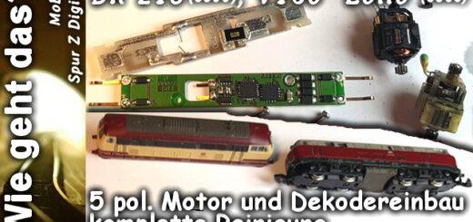 Digitalumbau Spur Z BR218 V160
